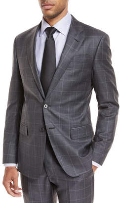 Giorgio Armani Windowpane Wool Two-Piece Suit