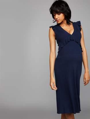 BCBGMAXAZRIA Pea Collection Ruffled Maternity Dress