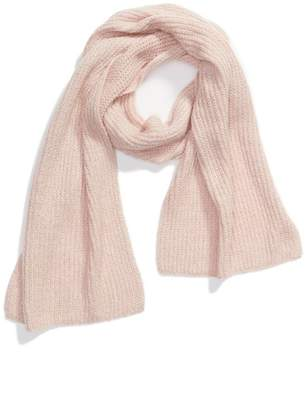 Halogen Ribbed Knit Muffler Scarf