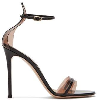Gianvito Rossi G String 105 Patent Leather And Plexi Sandals - Womens - Black Nude