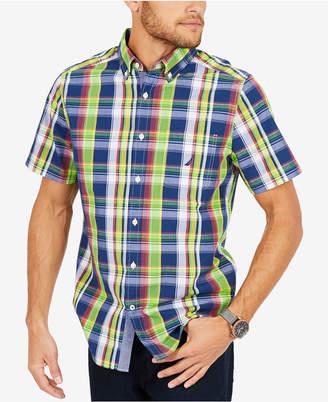 Nautica Men's Big & Tall Plaid Woven Shirt