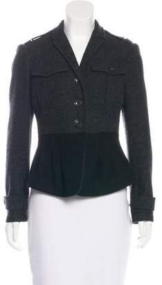 Burberry Wool-Blend Colorblock Jacket