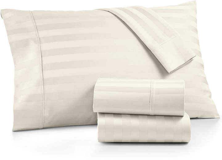 Aq Textiles Bergen Stripe 4-Pc. King Sheet Set, 1000 Thread Count 100% Certified Egyptian Cotton Bedding