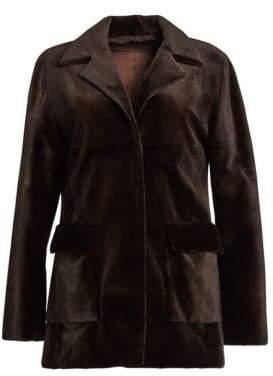 Zac Posen Sheared Mink Jacket