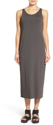 Women's Eileen Fisher Scoop Neck Jersey Midi Dress $198 thestylecure.com