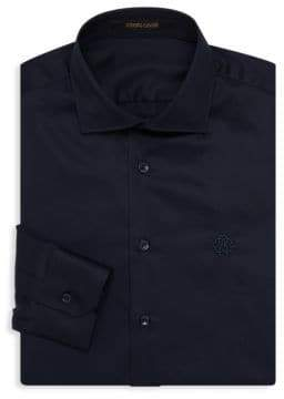 Roberto Cavalli Logo Embroidered Dress Shirt