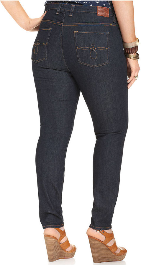 Lucky Brand Plus Size Ginger Skinny Jeans, Dark Curson Wash