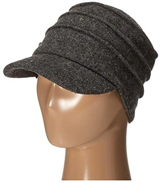 San Diego Hat Company SDH0518 Wool Cadet with Right Side Flower