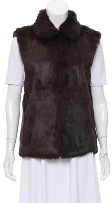 Adrienne Landau Lightweight Fur Vest