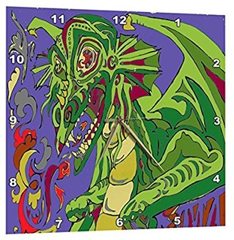 Dragon Optical 3dRose OLD STORY TELLER, Wall Clock, 15 by 15-inch