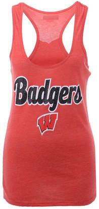 5th & Ocean Women's Wisconsin Badgers Script Logo Tank