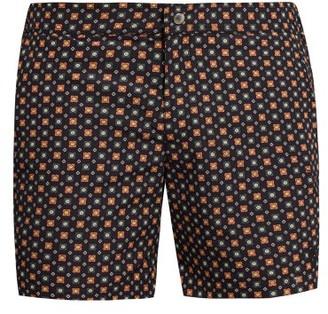Alexander McQueen Floral Swim Shorts - Mens - Navy Multi