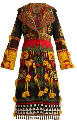 Etro Amular Heavyweight Patchwork Cardigan - Womens - Black Multi