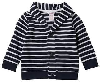 Joe Fresh Stripe Shawl Collar Cardigan (Baby Boys)