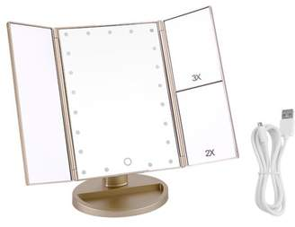 AARON 21 LED Lights Touch Screen 3x Makeup Mirror Cosmetic Tabletop Vanity Mirror