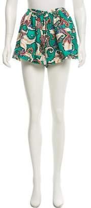 Thakoon Silk Paisley Shorts