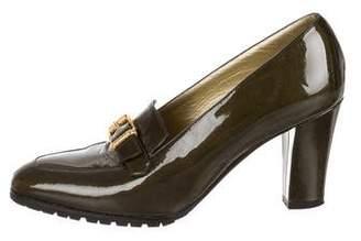 Bottega Veneta Pointed-Toe Patent Leather Loafers