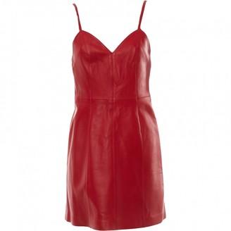 ALEXACHUNG Alexa Chung Red Leather Dresses