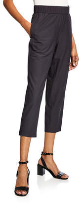 Eileen Fisher Lightweight Stretch Crepe Cropped Pants, Plus Size