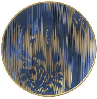Hermes Ikat Sapphire Bread & Butter Plate