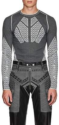 GmbH Men's Jacquard-Knit Sweater - Black