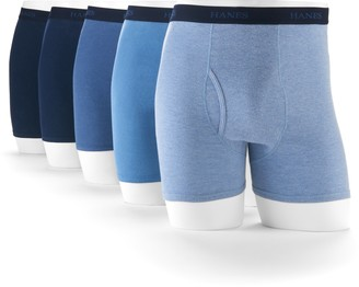 Hanes Men's Ultimate 5-pack Exposed Waistband Boxer Brief