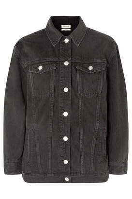 Madewell The Oversized Denim Jacket - Black