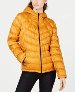 Michael Kors Michael Packable Hooded Down Puffer Coat, Created for Macy's