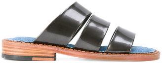 Robert Clergerie Blur Iron sandals $550 thestylecure.com
