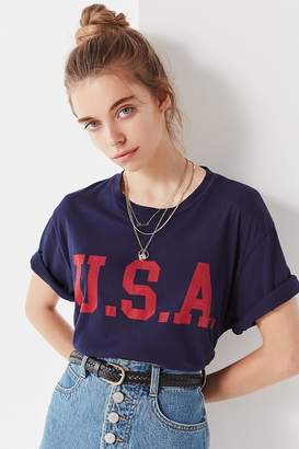 Truly Madly Deeply USA Cropped Tee