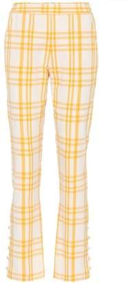 Oboe plaid cotton pants