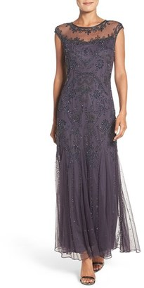 Petite Women's Pisarro Nights Embellished Mesh Gown $218 thestylecure.com