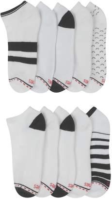 Hanes Women's 10-Pack Ultimate Comfort Fit Low Cut Athletic Socks