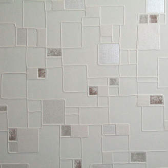 Graham & Brown Contour Spa Pastel 33' x 20.5 Geometric 3D Embossed Wallpaper