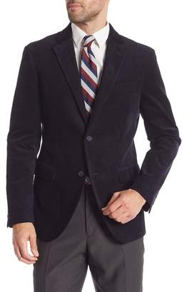 Nordstrom Rack Solid Corduroy Two Button Notch Lapel Trim Fit Suit Separates Jacket