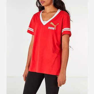 Puma Women's Retro Varsity T-Shirt