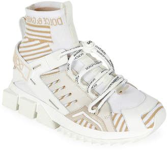 Dolce & Gabbana Thick-Sole High-Top Sneakers