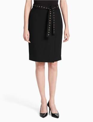 Calvin Klein studded belt pencil skirt