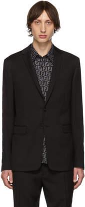 Fendi Black Wool Forever Blazer