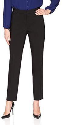 Lark & Ro Women's Slim Leg Dress Pant: Curvy Fit