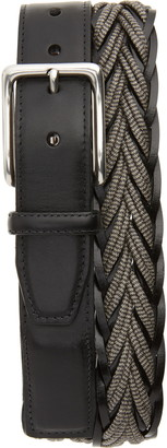 Torino Braided Cotton & Leather Belt