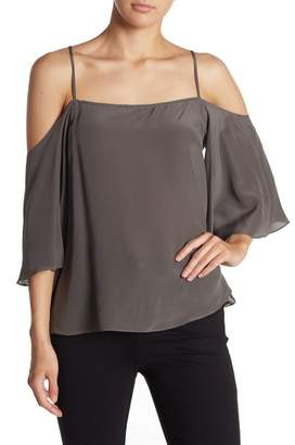 Bailey 44 Moonlight Cold Shoulder Silk Blouse
