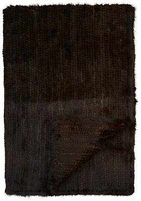 Adrienne Landau Knitted Mink Fur Throw