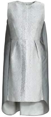 Safiyaa Metallic Paneled Duchesse-Satin And Jacquard Mini Dress