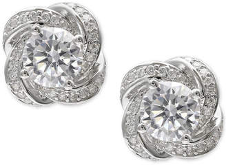 Giani Bernini Cubic Zirconia Love Knot Stud Earrings in Sterling Silver, Created for Macy's