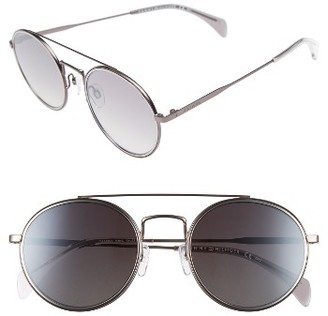 Women's Tommy Hilfiger 53Mm Round Sunglasses - Dark Ruthenium $170 thestylecure.com