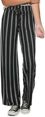 Juniors' Joe B Mid-Rise Printed Peached Wide-Leg Pants