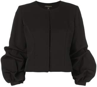 Alberto Makali cropped ruched-sleeves jacket