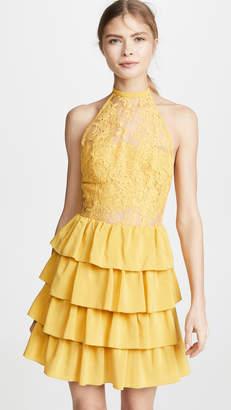 EWA Herzog Halter Neck Lace Dress