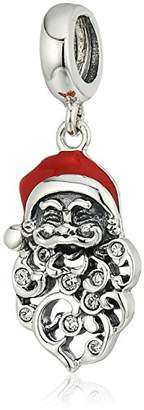 Swarovski Chamilia Ornamental Santa Crystal And Red Enamel Charm